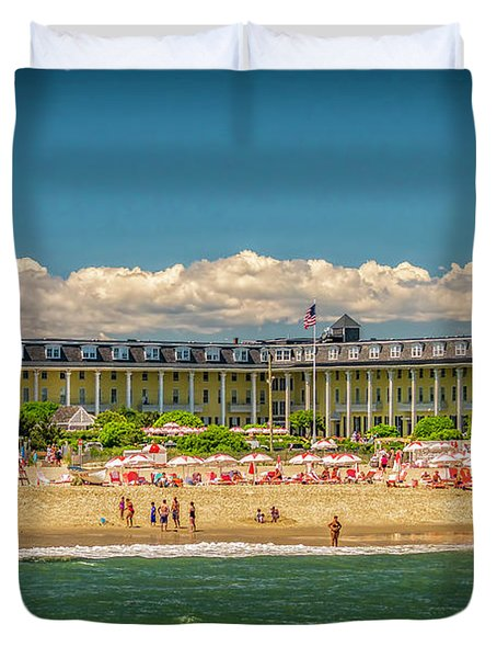 Congress Hall In Cape May Duvet Cover