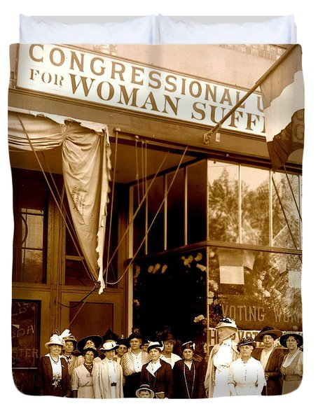 Congressional Union For Woman Suffrage Colorado Headquarters 1914 Duvet Cover