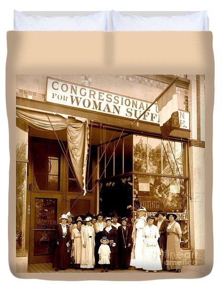 Congressional Union For Woman Suffrage Colorado Headquarters 1914 Duvet Cover