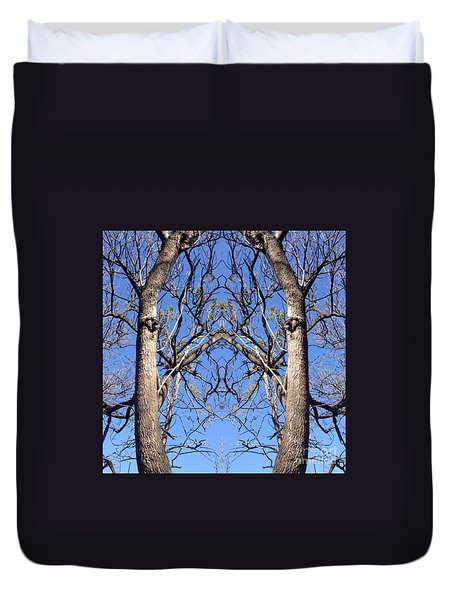 Conjoined Tree Collage Duvet Cover