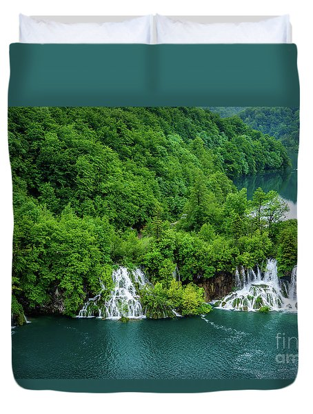 Connected By Waterfalls - Plitvice Lakes National Park, Croatia Duvet Cover