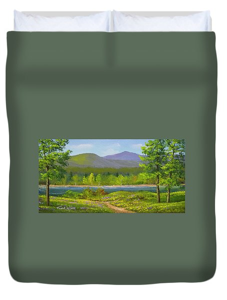 Duvet Cover featuring the painting Connecticut River Spring by Frank Wilson