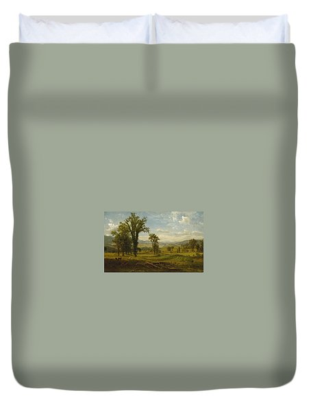 Connecticut River Valley, Claremont, New Hampshire Duvet Cover