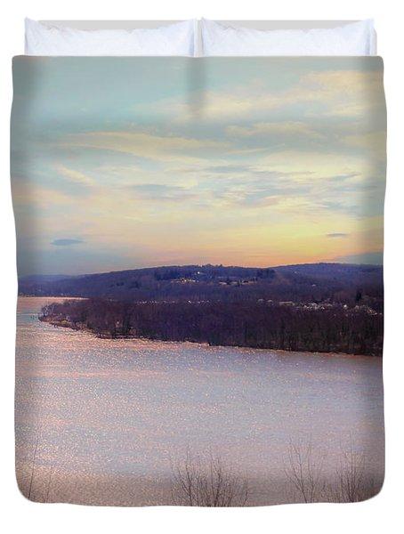 Connecticut River View From Gillette Castle. Duvet Cover