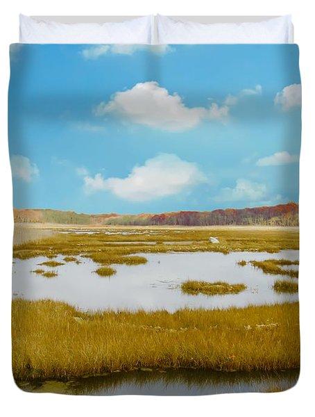 Connecticut Salt Water Marsh Duvet Cover
