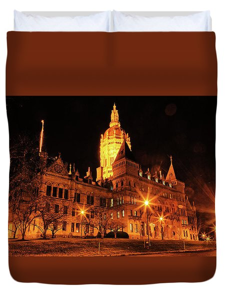 Connecticut State Capitol Duvet Cover