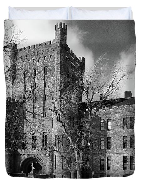 Duvet Cover featuring the photograph Connecticut Street Armory 3997b by Guy Whiteley