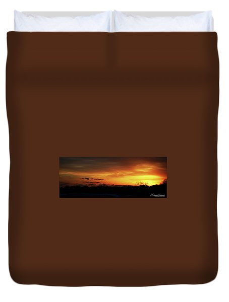 Connecticut Sunset Duvet Cover