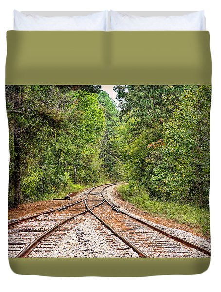 Connecting Tracks Duvet Cover