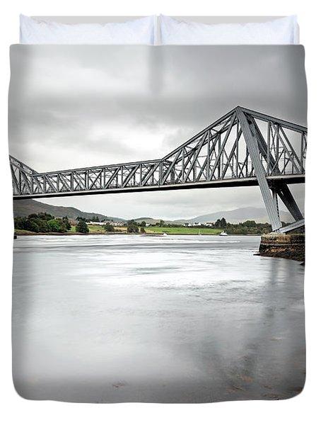 Connel Bridge Duvet Cover by Grant Glendinning
