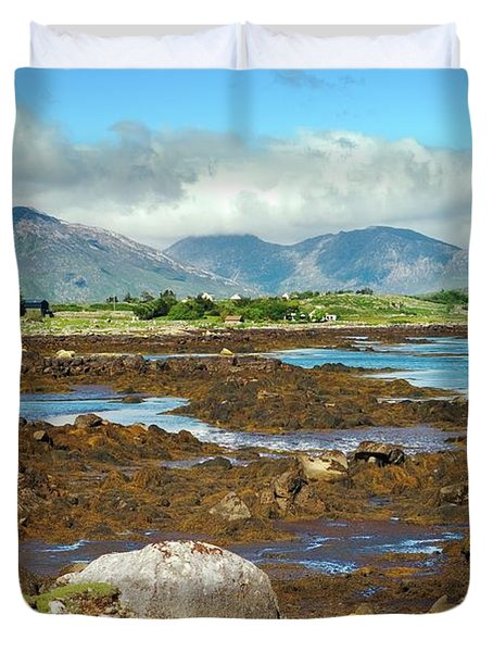 Connemara Landscape, Ireland. Over Blackhaven To The Twelve Pins Duvet Cover