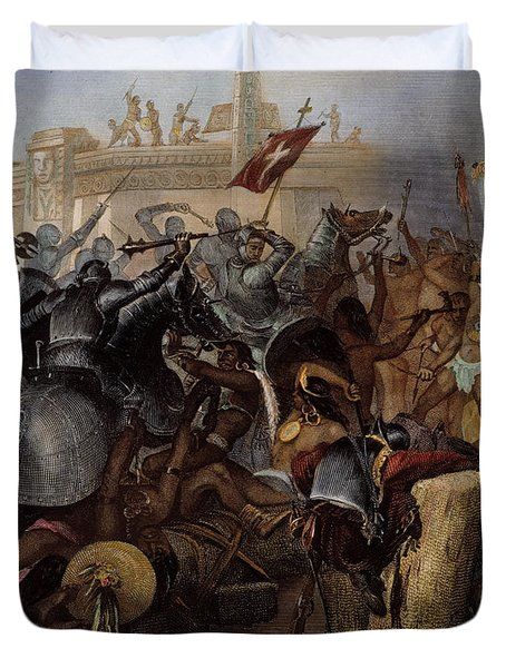 Conquest Of Mexico, 1521 Duvet Cover