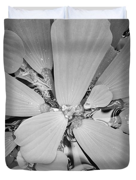 Conservatory Nature In Black And White 1 Duvet Cover by Carol Groenen