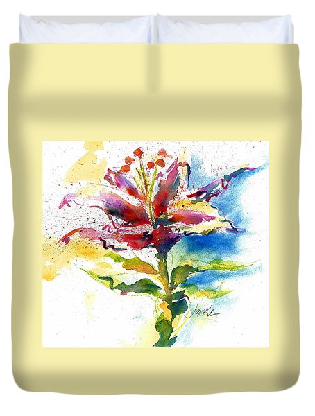 Consider The Lily Duvet Cover