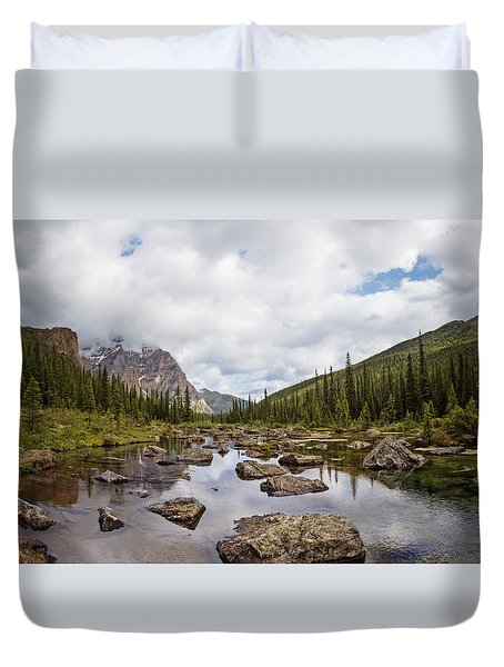 Consolation Lake Banff Duvet Cover