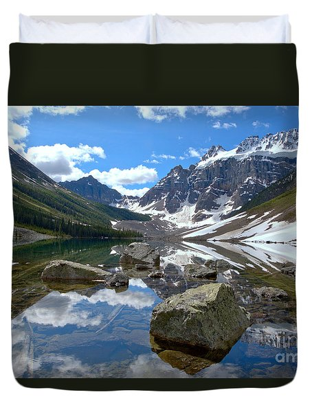 Consolation Lakes Reflections Duvet Cover