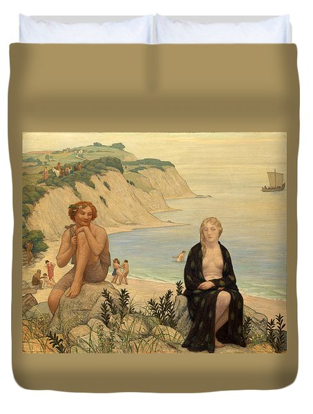Consolation Of Ariadne Duvet Cover