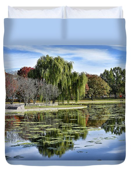 Constitution Gardens On The National Mall Duvet Cover
