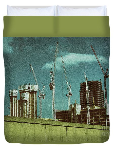 Construction Works In Stratford Duvet Cover