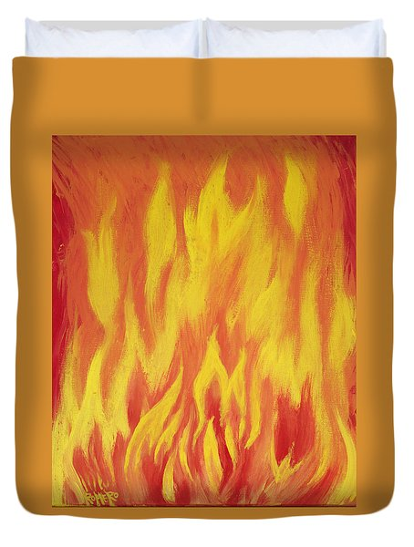 Consuming Fire Duvet Cover