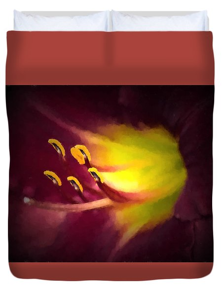 Duvet Cover featuring the photograph Contact by Cathy Donohoue