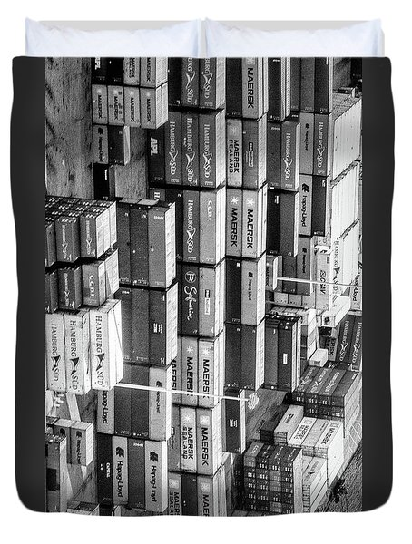 Container Library Duvet Cover