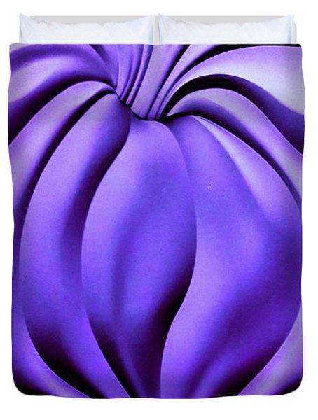 Contemplation In Purple Duvet Cover