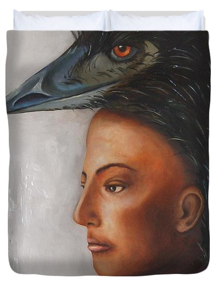 Contemplation Duvet Cover by Leah Saulnier The Painting Maniac