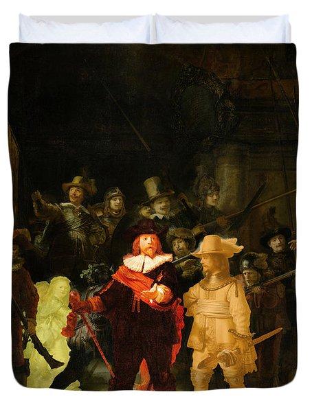 Contemporary 1 Rembrandt Duvet Cover by David Bridburg