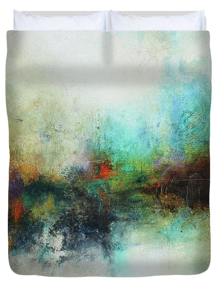 Duvet Cover featuring the painting Contemporary Abstract Art Painting by Patricia Lintner