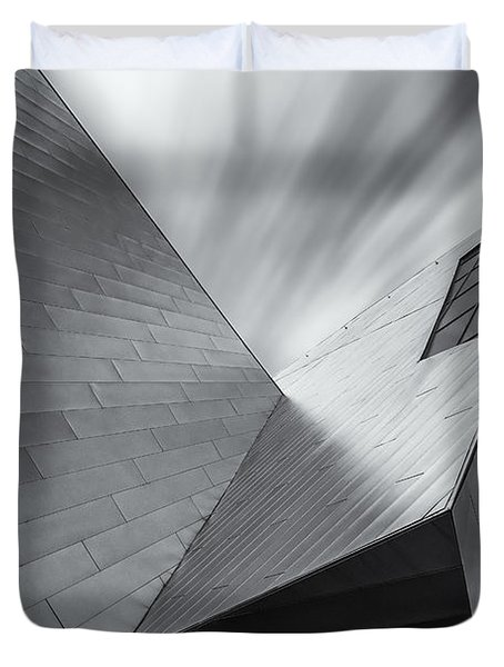 Duvet Cover featuring the photograph Contemporary Architecture Of The Shops At Crystals, Aria, Las Ve by Adam Romanowicz