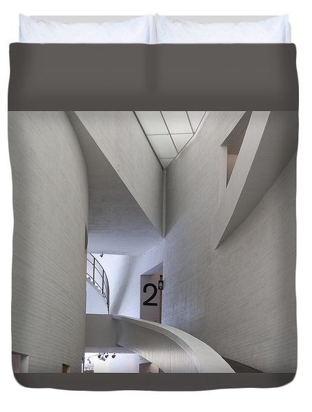 Contemporary Art Museum Interior Duvet Cover
