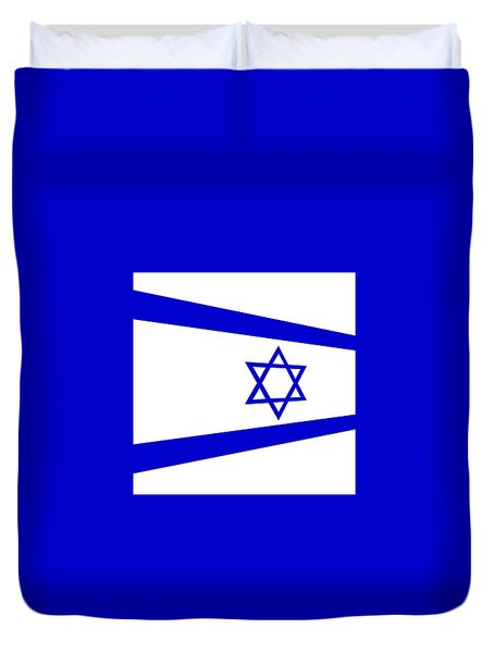 Contemporary Flag Of Israel Duvet Cover