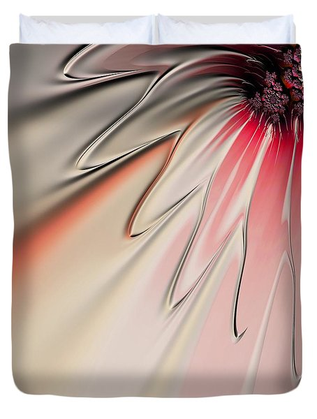 Contemporary Flower Duvet Cover by Bonnie Bruno