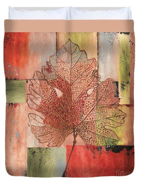 Contemporary Grape Leaf Duvet Cover