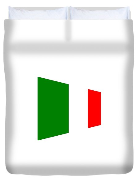 contemporary Italian Flag Duvet Cover