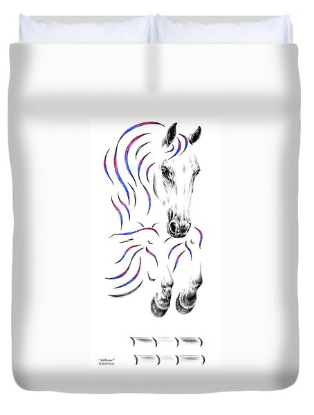 Contemporary Jumper Horse Duvet Cover