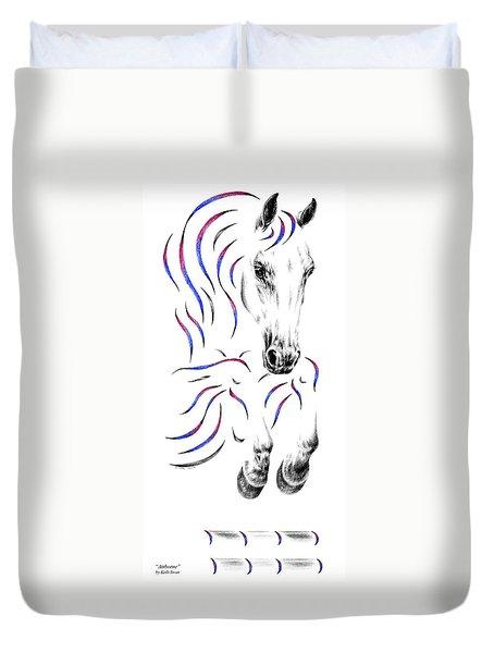 Contemporary Jumper Horse Duvet Cover