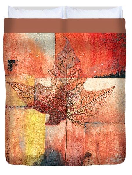 Contemporary Leaf 2 Duvet Cover