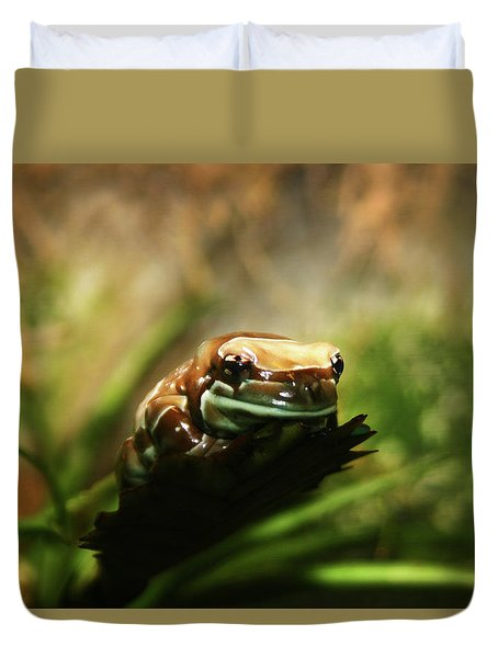 Duvet Cover featuring the photograph Content by Anthony Jones