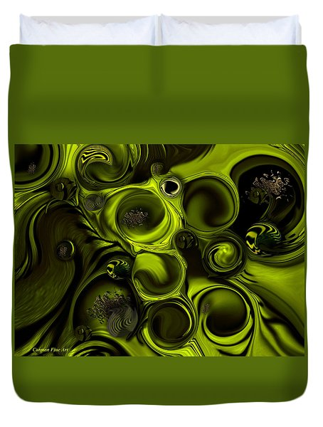 Continuation Or Substance Duvet Cover by Carmen Fine Art