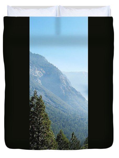 1 Of 4 Controlled Burn Of Yosemite Section Duvet Cover