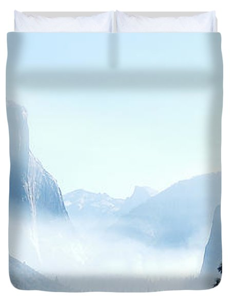 2 Of 4 Controlled Burn Of Yosemite Section Duvet Cover