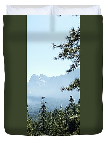 3 Of 4 Controlled Burn Of Yosemite Section Duvet Cover
