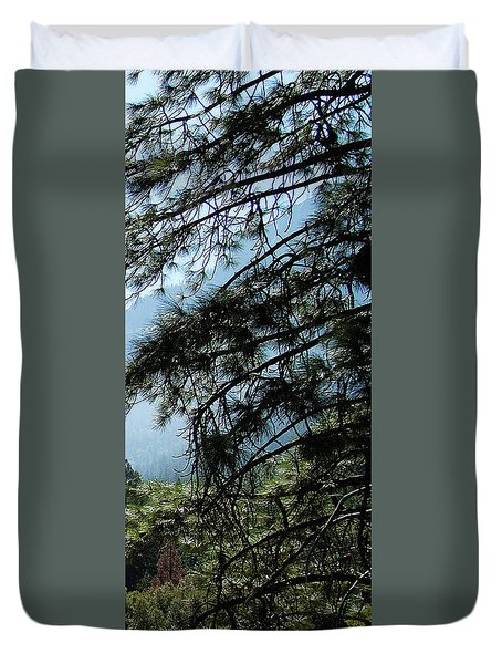 4 Of 4 Controlled Burn Of Yosemite Section Duvet Cover