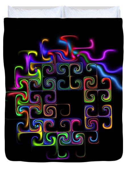 Duvet Cover featuring the digital art Conundrum by Judi Suni Hall