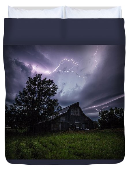 Duvet Cover featuring the photograph Convergence  by Aaron J Groen