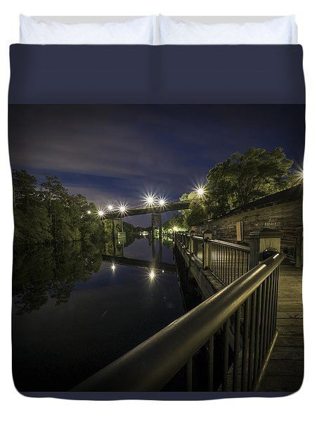 Conway Riverwalk Morning Duvet Cover