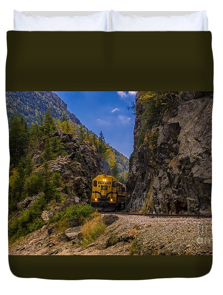 Conway Scenic Railroad Notch Train. Duvet Cover
