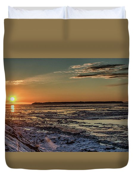 Cook Inlet Sunset Alaska  Duvet Cover
